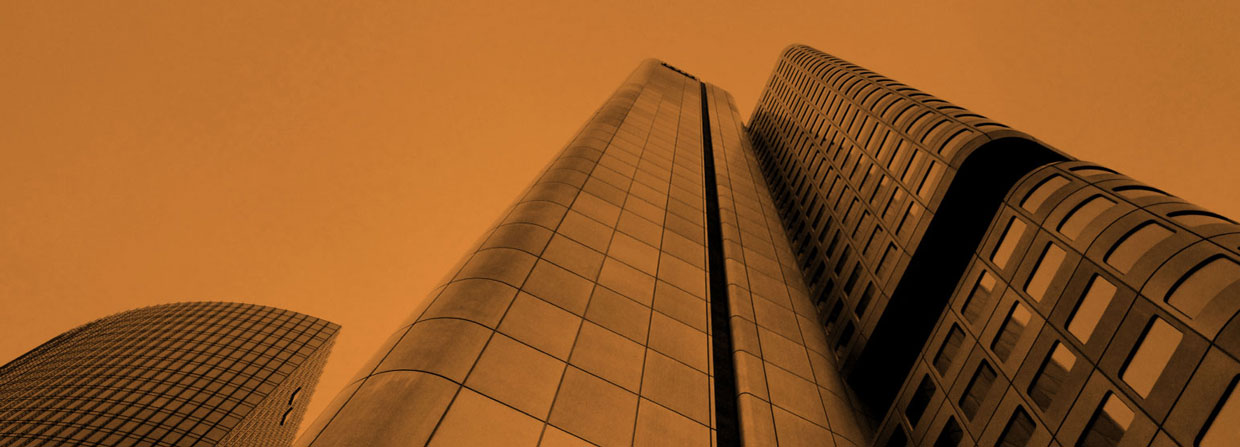 street view, looking up at large high rise corporate building