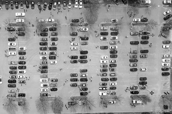 aerial-view-of-cars-parked-on-a-parking-lot